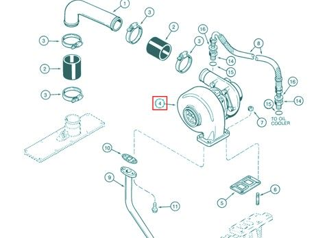 Turbosprężarka CASE JR802290