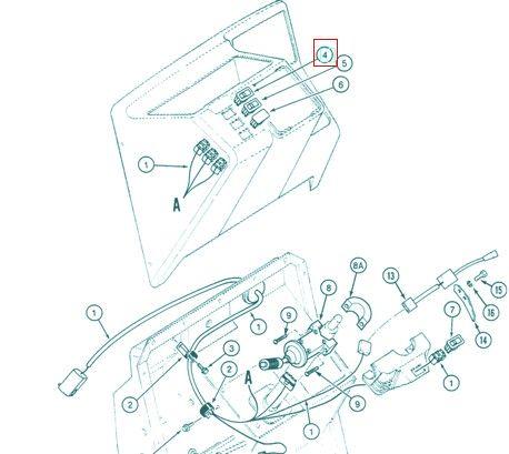 Przełącznik świateł CASE 123538A1 ORYGINAŁ