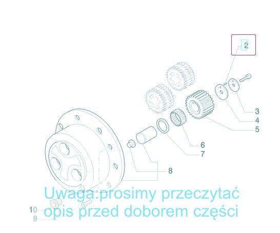 Łożysko, pin, zabezpieczenie 247550A1